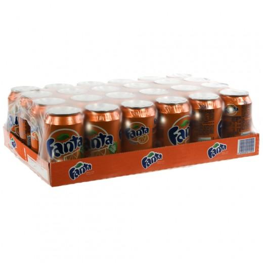 Fanta BLIK  Orange  33 cl  Blik 24 pak
