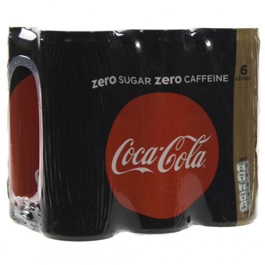 Coca Cola  Zero Caffeine vrij  25 cl  Blik  6 pak