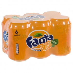Fanta BLIK  Orange  33 cl  Blik  6 pak