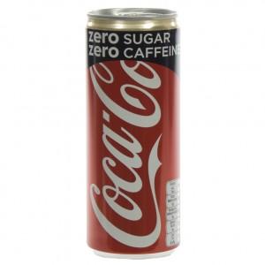 Coca Cola  Zero Caffeine vrij  25 cl  Blik