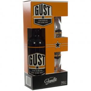 Gust geschenkverpakking  75 cl  1fles + 2glazen