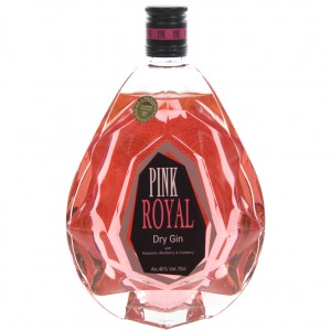 Pink Royal dry gin  70 cl   Fles