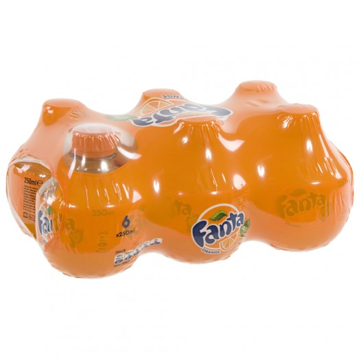 Fanta  PET  Orange  25 cl  Pak  6 st