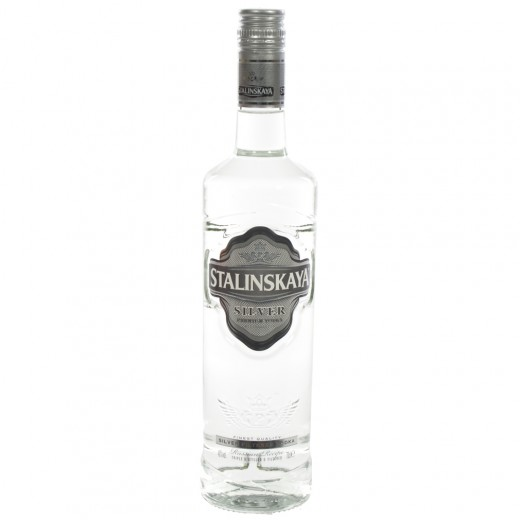 Stalinskaya Wodka Silver  70 cl   Fles