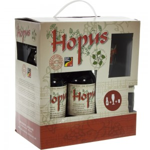 Hopus Geschenkverpakking  33 cl  4fles + 2glas