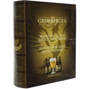 Grimbergen boek geschenkverpakking  33 cl  4fles+ 1glas