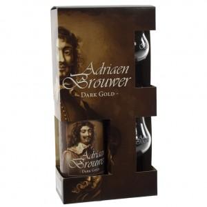 Adriaan Brouwer geschenk  75 cl  1fles + 2glazen