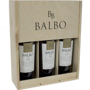 Balbo Malbec/bonardo/blend geschenkverpakking  75 cl  kist 3 fl