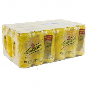 Schweppes Tonic BLIK  Regular  33 cl  Blik 24 pak