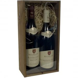 Geschenk Pinot noir + aligote roux  75 cl  kist 2 fl