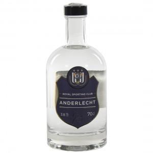 Anderlecht Wit Gin 38%  70 cl   Fles