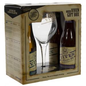 Viven Geschenkverpakking  33 cl  4fles+ 1glas