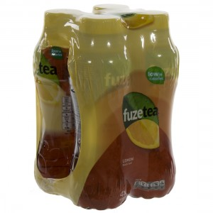Fuze sparkling black tea PET  Lemon  40 cl  Pak  4 st