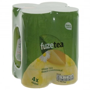 Fuze Green tea BLIK  Mango Chamomile  25 cl  Blik 4 pak