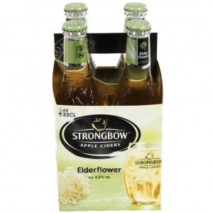 Strongbow Apple Ciders  Elderflower  33 cl  Clip 4 fl