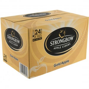 Strongbow Apple Ciders  Gold Apple  33 cl  Doos 24 st