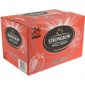 Strongbow Apple Ciders  Red Berries  33 cl  Doos 24 st