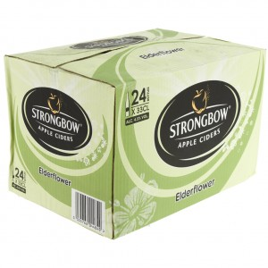 Strongbow Apple Ciders  Elderflower  33 cl  Doos 24 st