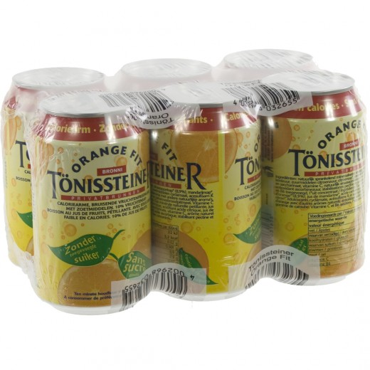 Tonissteiner BLIK  Orange  33 cl  Blik  6 pak