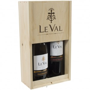 Gesch. Le Val Chardonnay/ Cab Sauv  75 cl  kist 2 fl