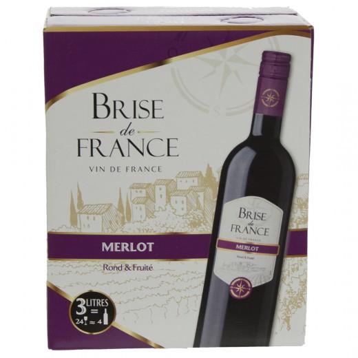 Brise de France VDP d' Oc Merlot 13%  Rood  3 liter  Vat