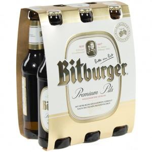 Bitburger pils  Wit  33 cl  Clip 6 fl