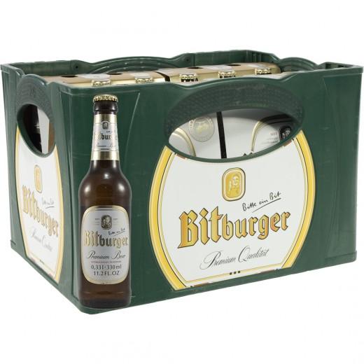 Bitburger pils  Wit  33 cl  Bak 24 st