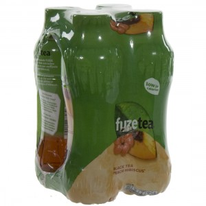 Fuze sparkling black tea PET  Peach Hibiscus  40 cl  Pak  4 st