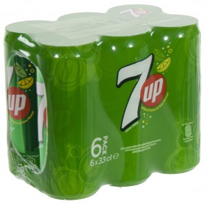 7 up  Regular  33 cl  Blik  6 pak