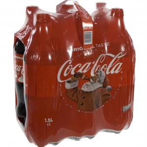 Coca Cola PET  Regular  1,5 liter  Pak  6 st