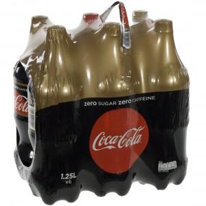Coca Cola PET  Zero Caffeine vrij  1,25 liter  Pak  6 st