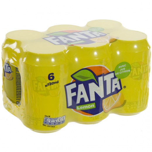 Fanta BLIK  Lemon  33 cl  Blik  6 pak