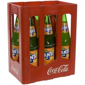 Fanta  Orange  1 liter  Bak  6 fl