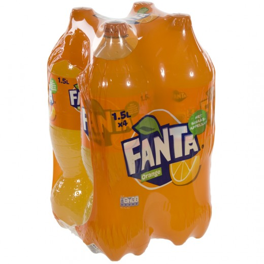 Fanta  PET  Orange  1,5 liter  Pak  4 st