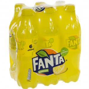 Fanta  PET  Lemon  50 cl  Pak  6 st