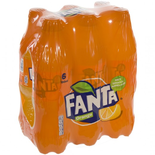 Fanta  PET  Orange  50 cl  Pak  6 st