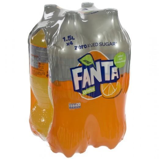 Fanta  PET  Zero  1,5 liter  Pak  4 st