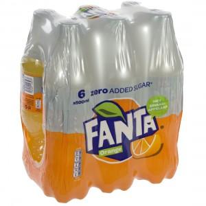 Fanta  PET  Zero  50 cl  Pak  6 st