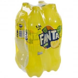 Fanta  PET  Lemon  1,5 liter  Pak  4 st