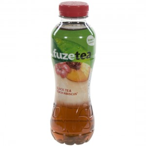 Fuze sparkling black tea PET  Peach Hibiscus  40 cl   Fles