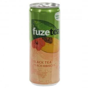 Fuze sparkling black tea BLIK  Peach Hibiscus  25 cl  Blik