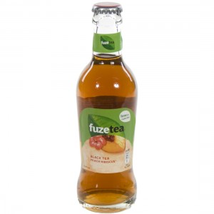 Fuze tea black tea peach hibiscus  20 cl   Fles