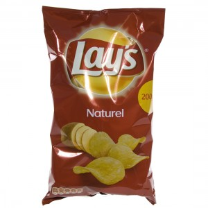 Lays Chips  Naturel   Stuk  200 g