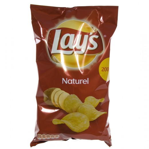 Lays Chips  Naturel   Stuk  200 g