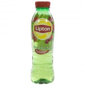 Lipton PET  Strawberry & cranberry  50 cl   Fles