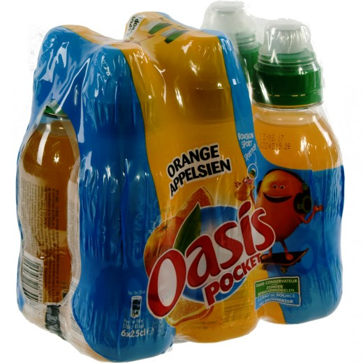Oasis PET  Orange  25 cl  Pak  6 st