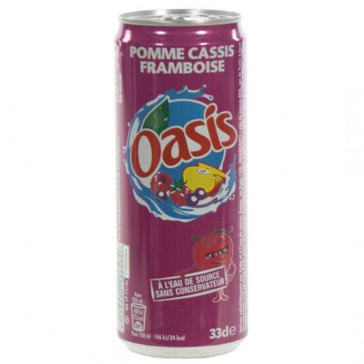 Oasis BLIK  Framboos  33 cl  Blik