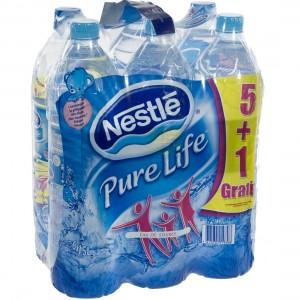 Nestle pure Life PET  Plat  1,5 liter  Pak 5+1 gr