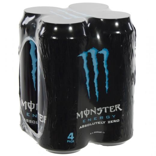 Monster  Absolutely Zero  50 cl  Blik 4 pak