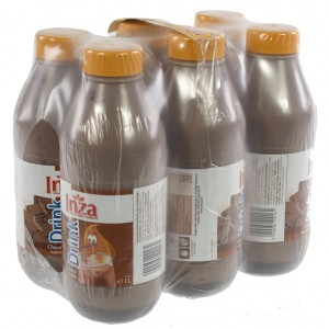 Inza chocomelk pet  Halfvolle  1 liter  Pak  6 st